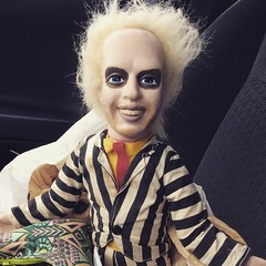 Flea market a bust- cold and rainy; yuck. But manage to pick up this Beetlejuice doll.  #Beetlejuice #doll #michaelkeaton