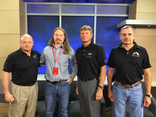 Photograph of Jesse Heady with ISS 1 Year Mission members