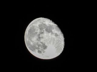 Israel - The moon being seen Old Jerusalem
