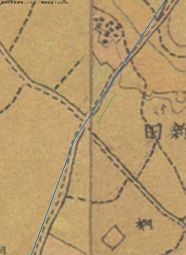 開拓踏切_明治初期迅速測図
