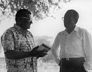 P. J. Malagar and D. J. Arthur, Indian church leaders, India, undated