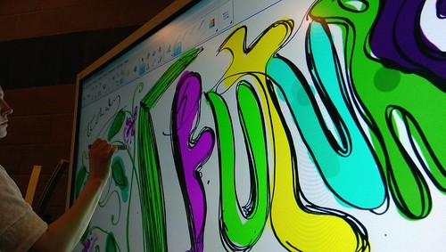 4k IWB art working = yes. #SMARTboard #DigiFest15