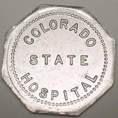 Colorado State Hospital token obverse