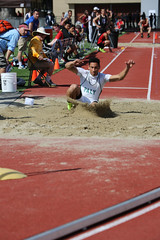 sprint(0.0), high jump(0.0), race track(0.0), physical exercise(0.0), athletics(1.0), track and field athletics(1.0), sport venue(1.0), triple jump(1.0), sports(1.0), long jump(1.0), athlete(1.0),