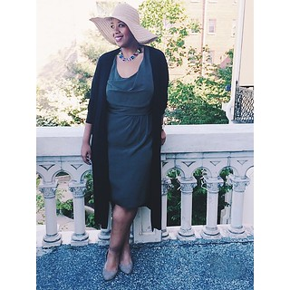 My dear friend @misschucho got married today so I pulled out my big ole hat! #houttennanny #brunchdrunklove