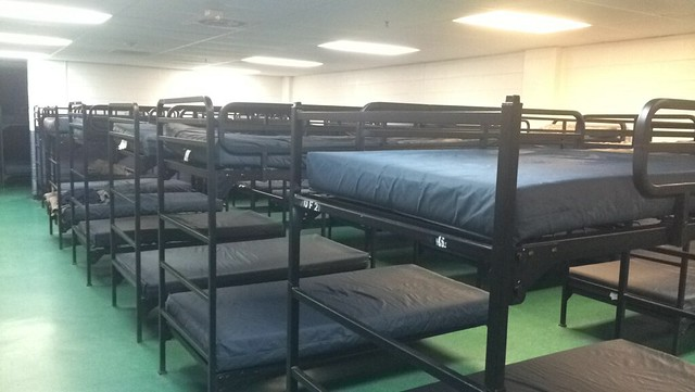 Bunk beds at Adam's Place, a homeless shelter in D.C.