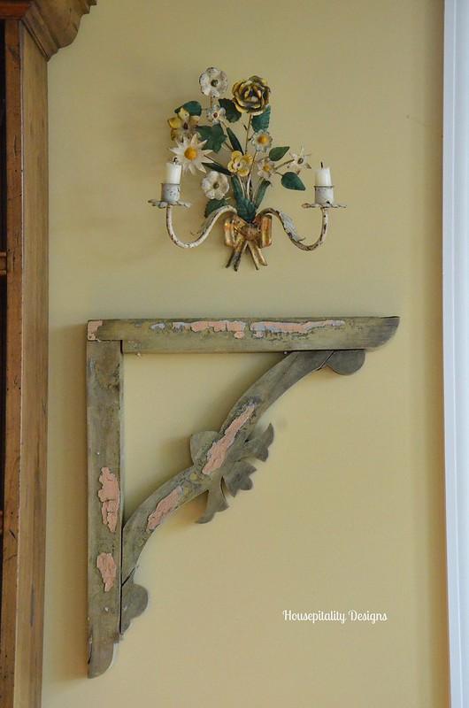 Vintage wood bracket-Housepitality Designs