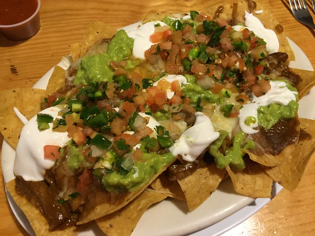 Chicken mole super nachos - Zapata Mexican Grill