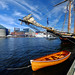 Boats at the Marina in Baltimore's Inner Harbor by ` Toshio '