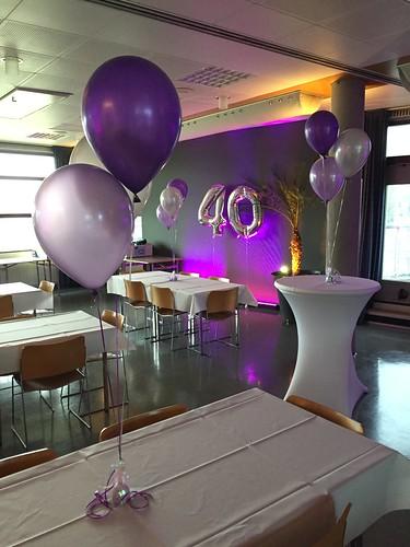Tafeldecoratie 3ballonnen Cultureel Centrum Cascade Hendrik Ido Ambacht