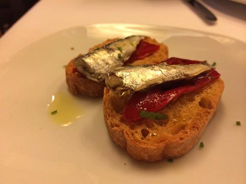 Sardines and tomato