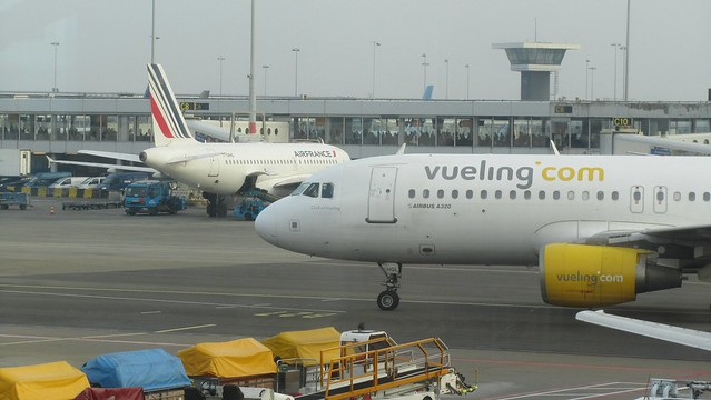Vueling Airbus A320 at Amsterdam Schiphol Airport