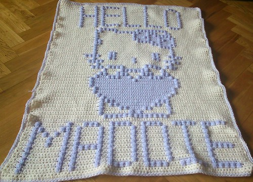 HELLO KITTY BLANKET FOR MADDIE