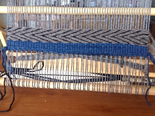 Schacht Tapestry Loom: First Weaving