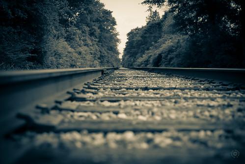 bw sepia train unitedstates alabama traintracks tracks cottonwood vignette dothan day105 day105365 15apr15 365the2015edition 3652015