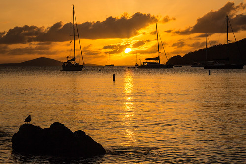 sunset sailboat stjohn usvi virginislandsnationalpark francisbay