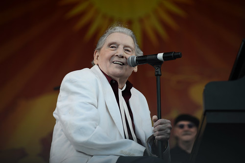 Jerry Lee Lewis on Acura Stage. Photo by Leon Morris.