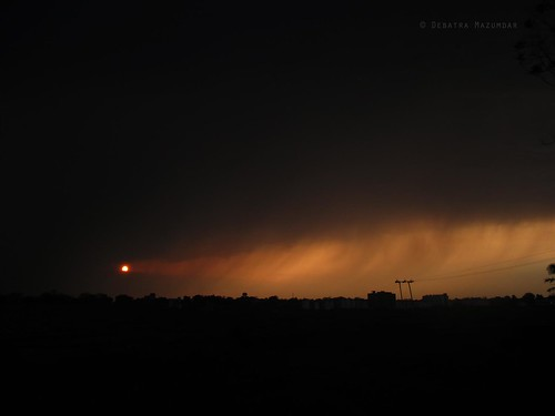sunset sky sun india storm clouds evening overcast bit jharkhand mesra ranchi birlainstituteoftechnology bitmesra easternindia