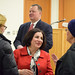 Rep. John Frey (Ridgefield) and Sen. Toni Boucher met with Ridgefield residents at the Ridgefield public library, March 31.