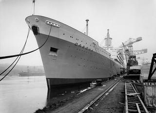 Passenger liner 'Orsova' at the Naval Yard