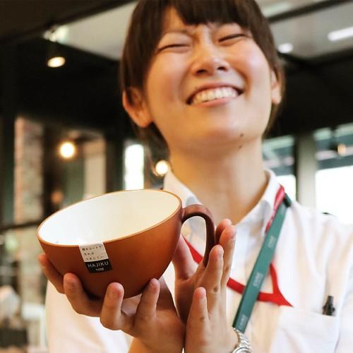 笑顔が素敵ないがらしさん。このカップをお土産でいただきました。オールブランを入れて使ってみる。 #cafebricco #カインズ