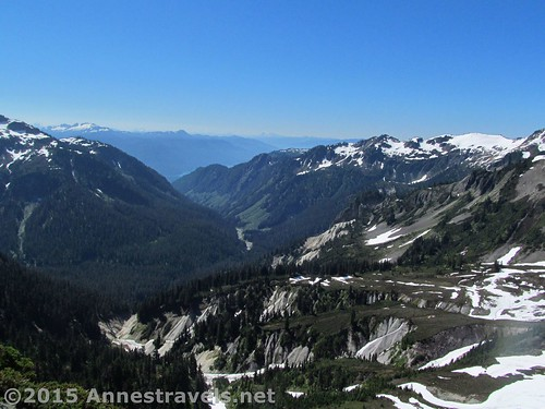 Looking down into the valleys that surround Table Mountain, Mount Baker-Snoqualmie National Forest, Washington