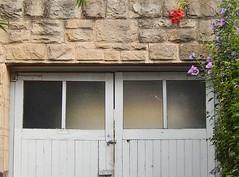 Vines Adorn Garage Doors