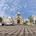 Panorámica de la plaza de la Iglesia de Nuestra Señora de la Asunción de Elvas, Portugal 2015