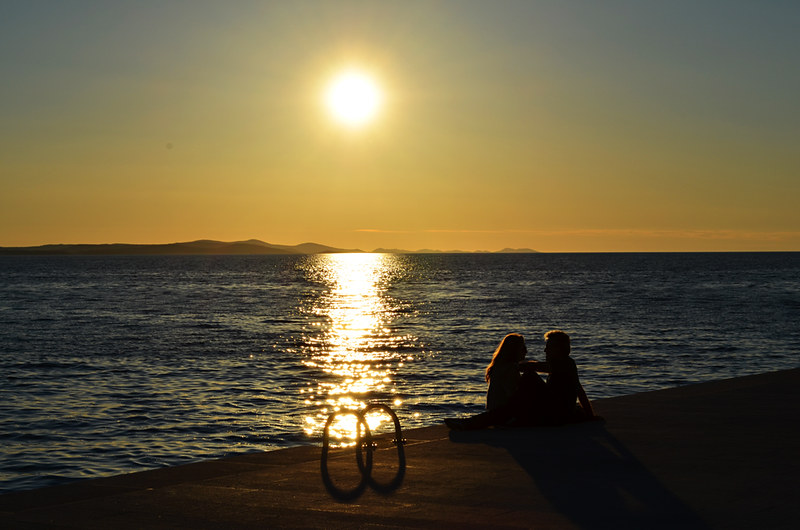 Romantic sunsets, old town, Zadar, Croatia