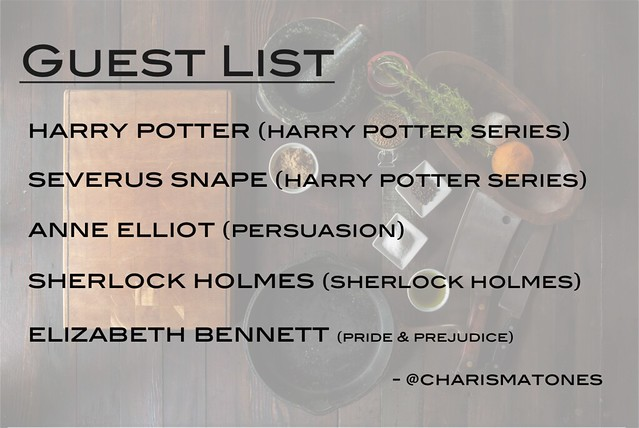 fictional dinner party guest list