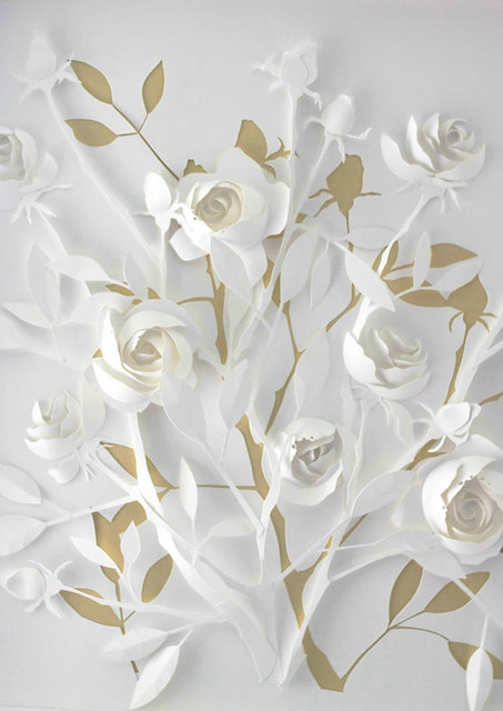 cut paper flower sculpture