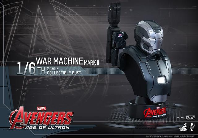 Hot Toys – HTB29 & HTB31  – 復仇者聯盟2:奧創紀元【戰爭機器馬克2】1/4 1/6 比例半身胸像