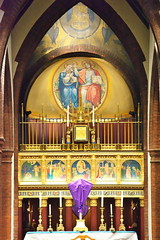 High Altar, the shrine of Our Lady of Walsingham, Walsingham, Norfolk
