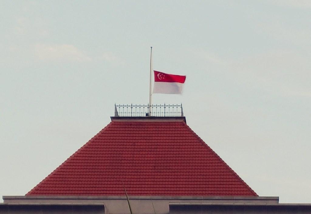 Singapore flies at half-mast at Parliament House