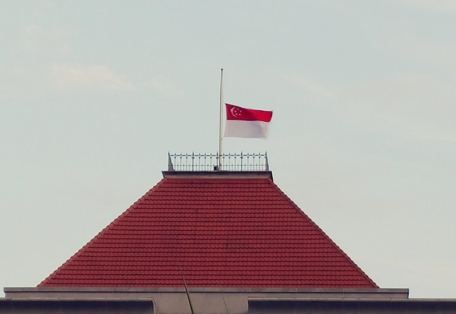 Singapore flies at half-mast at Parliament House