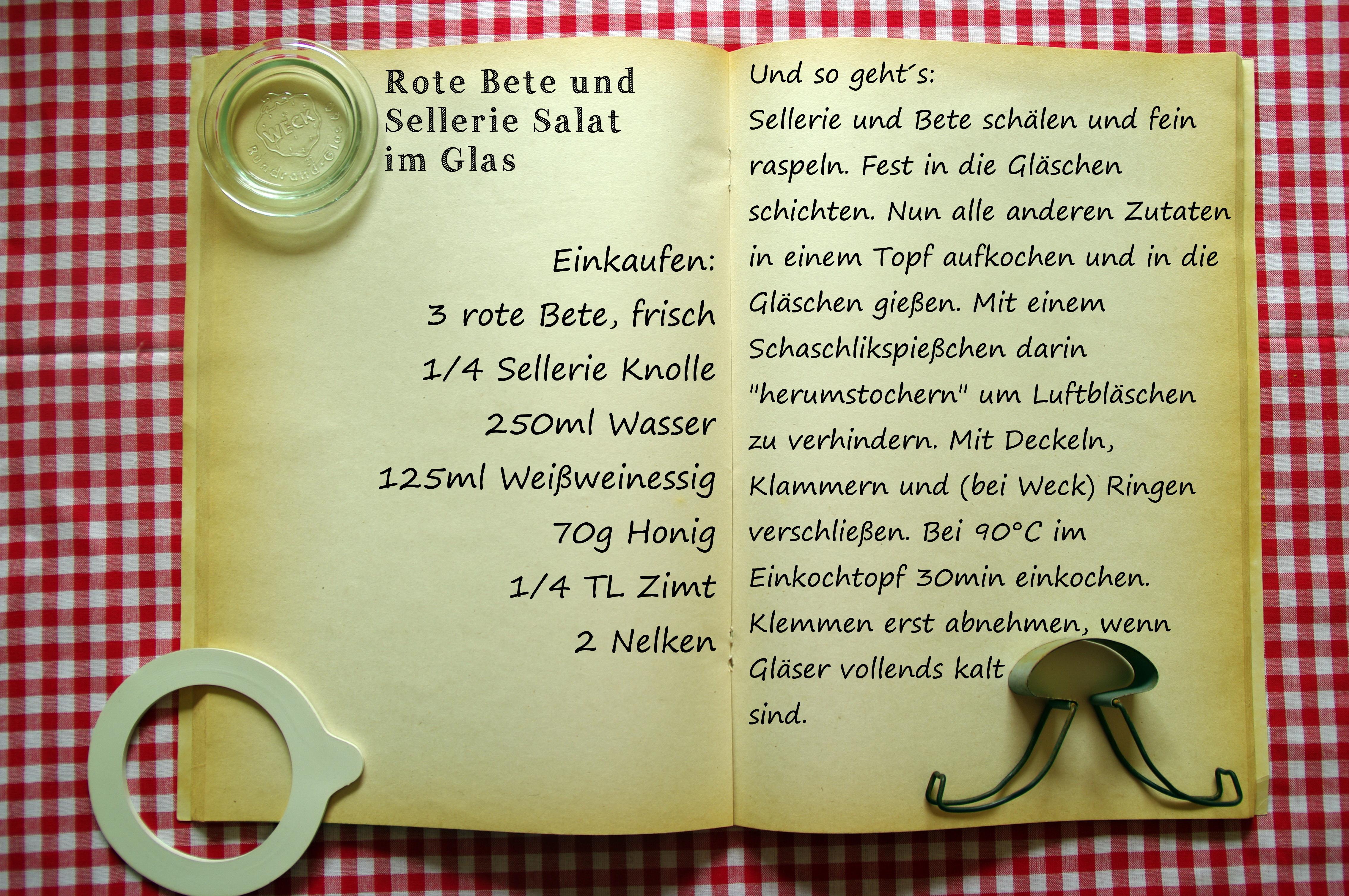 Einkaufszettel Rote Bete Salat eingeweckt by Glasgeflüster