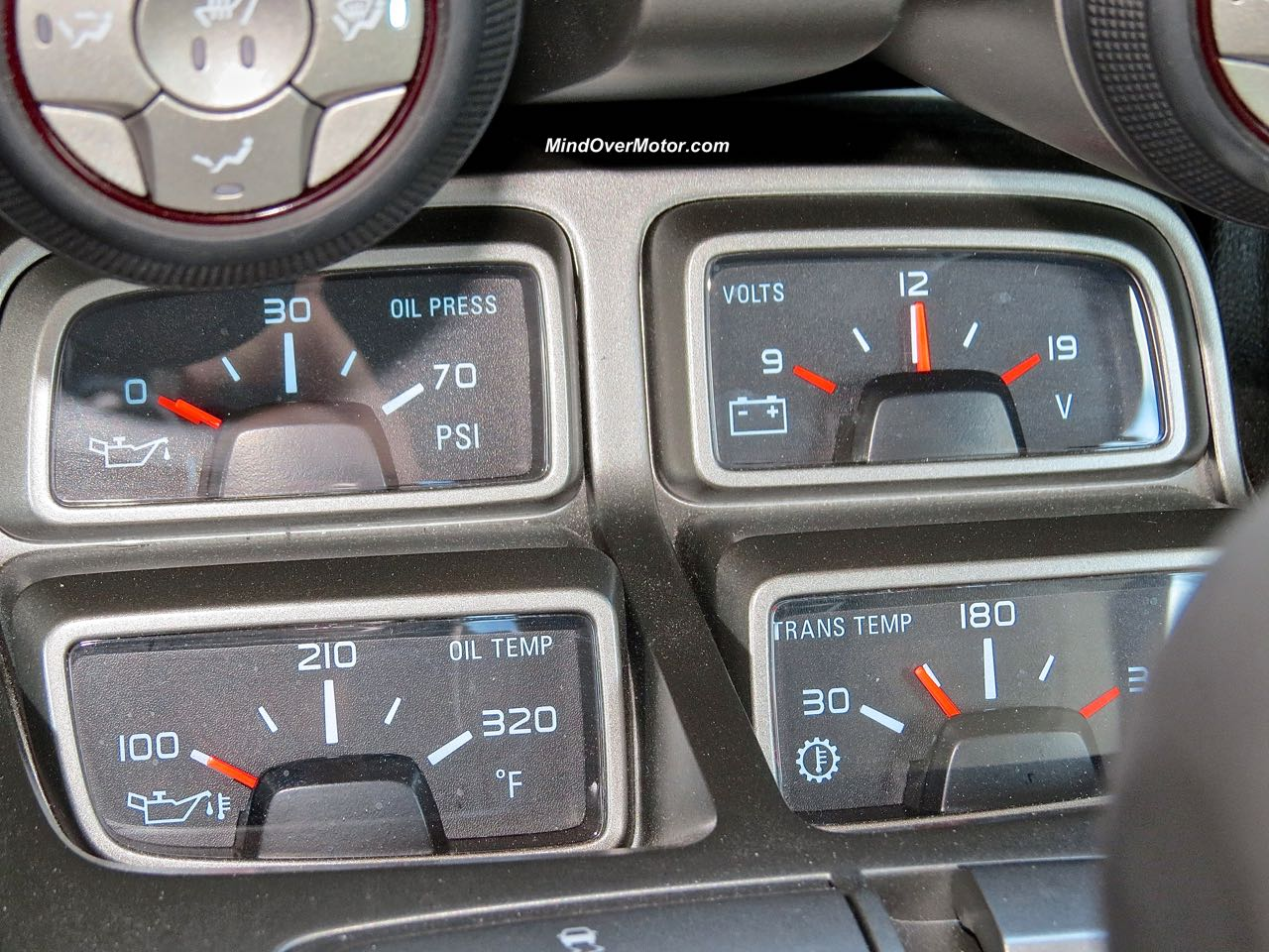 2015 Chevrolet Camaro Convertible Console Gauges