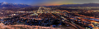 Salt lake city panorama