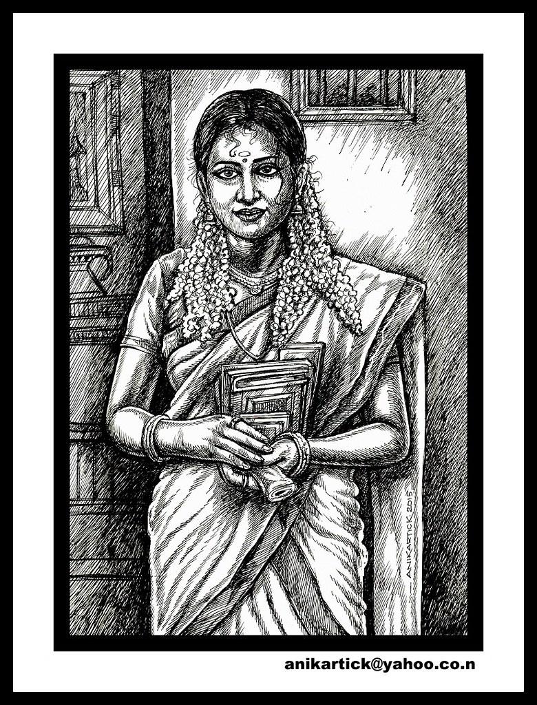 Indian artistindian artindian traditional drawingsindian girlsindian women