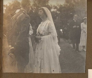 Bride and Groom at their Wedding Reception 1917