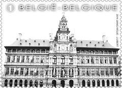 16 Markt Van Antwerpen timbre zc foto