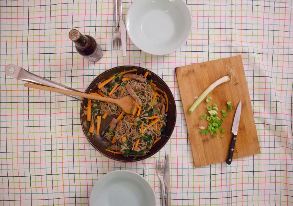 zwergenprinzessin kocht: soba-nudeln mit bärlauch & wasabi