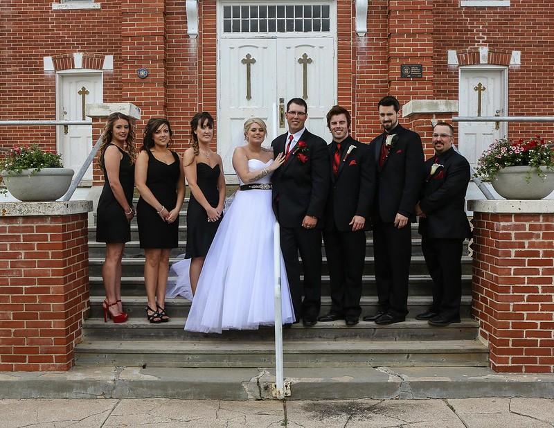 Bridal party, close-up