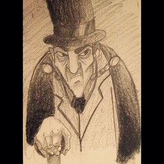 #InstaSize #drawing #illustration #man #mistery #cape #tophat