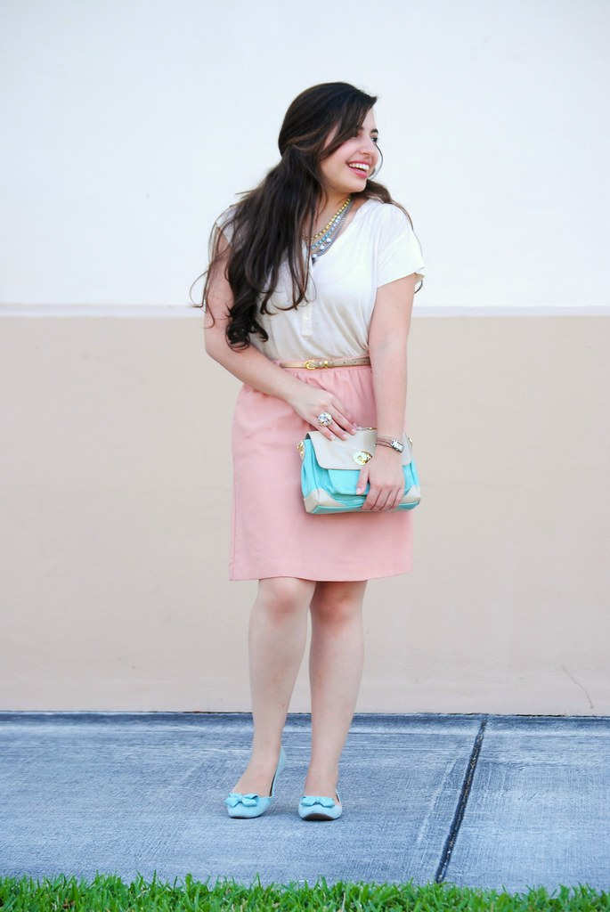 spring pastel modest style