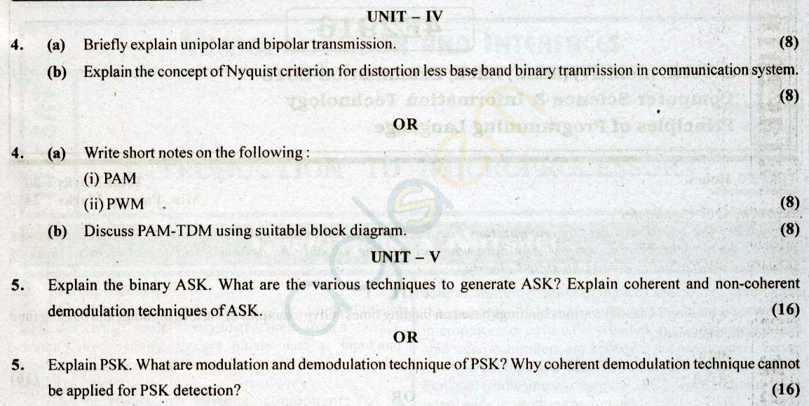RTU: Question Papers 2013 - 4 Semester - CS & IT - 4E2920
