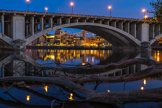 Third Ave bridge and Mill City museum complex.