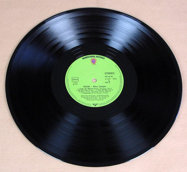 """ALICE COOPER KILLER GREEN WARNER 12"""" MAXI- LP VINYL"""