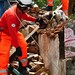 Gary Carroll and rescue dog Diesel in Chautara, Nepal by DFID - UK Department for International Development