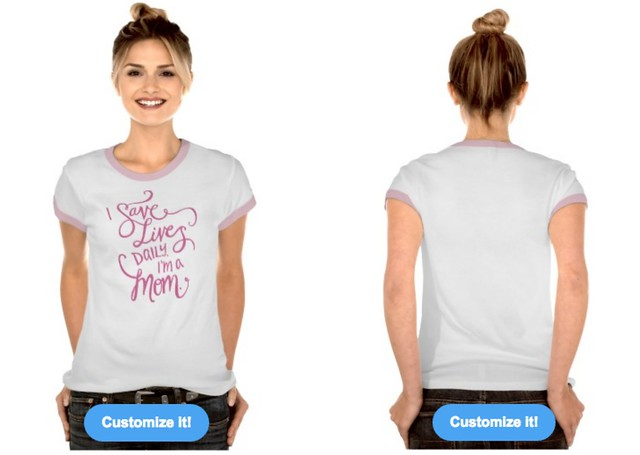 I Save Lives T Shirt by Lisa-Jo Baker for Mother's Day